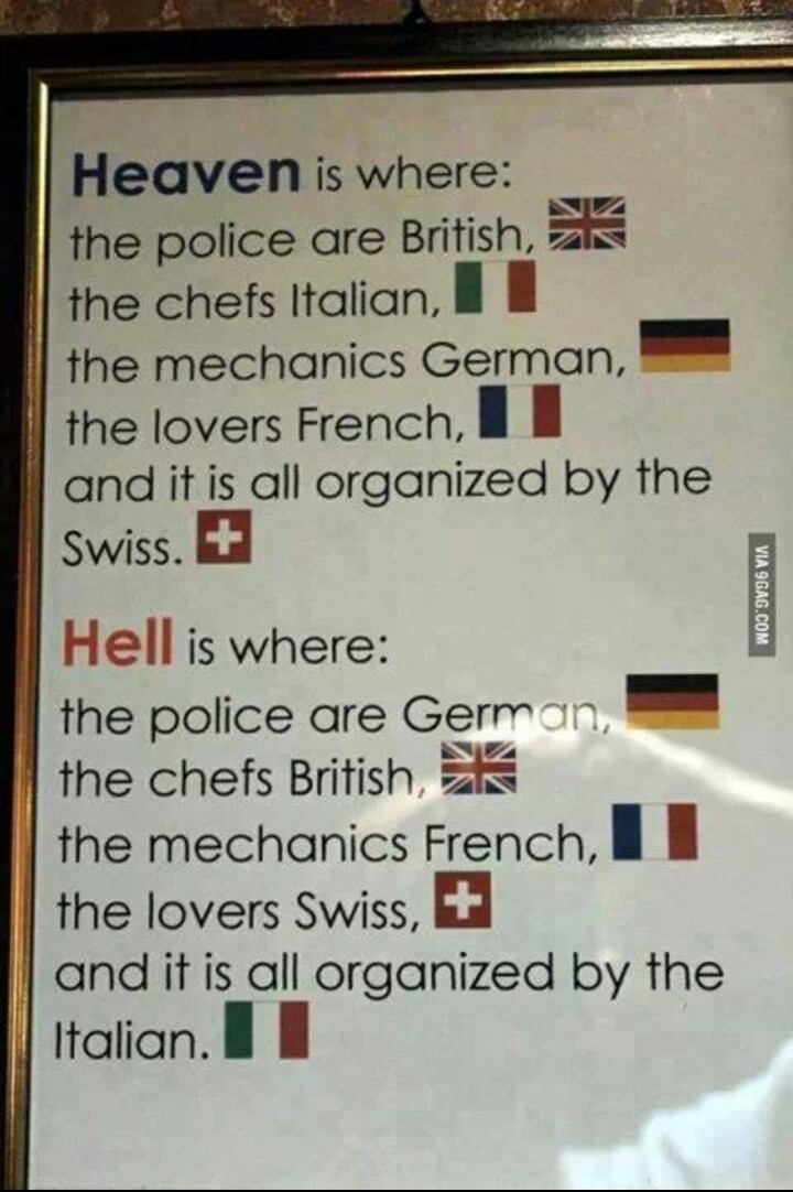 Oh god not swiss lovers, anything but swiss lovers - meme