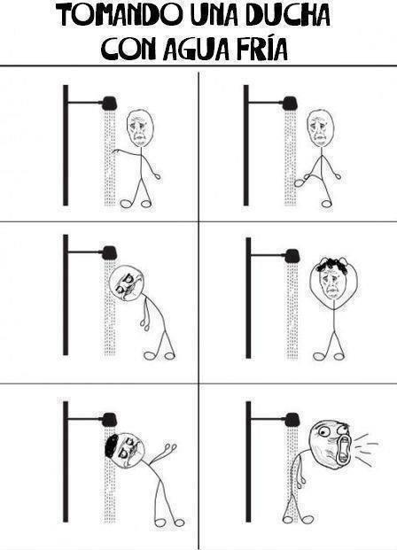 hmmmmmmmm quien se baña asi ??? - meme
