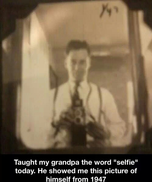 The first selfie ever taken - meme