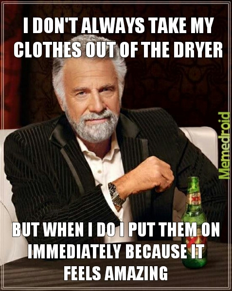 Toastuly dryer clothes - meme