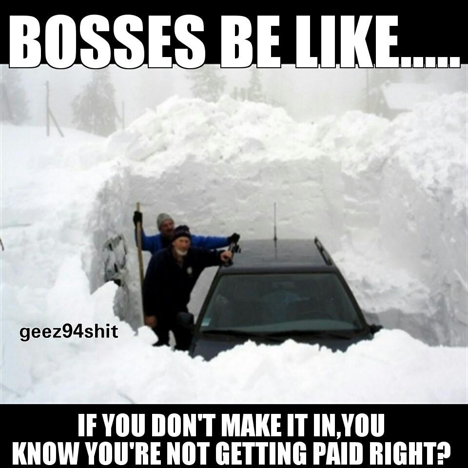 Snow day - meme