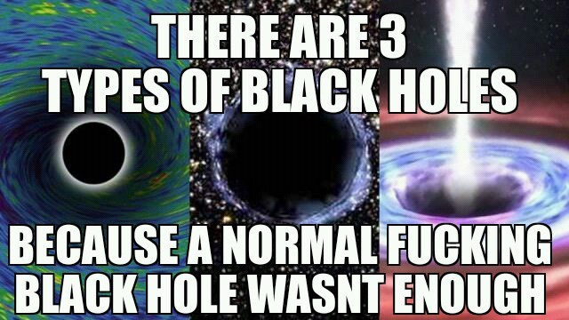 spinning black hole, electric, and spinning electric - meme