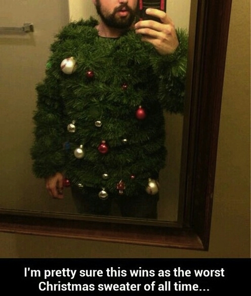 i laugh at all your Christmas sweater attempts to challenge me!!! - meme