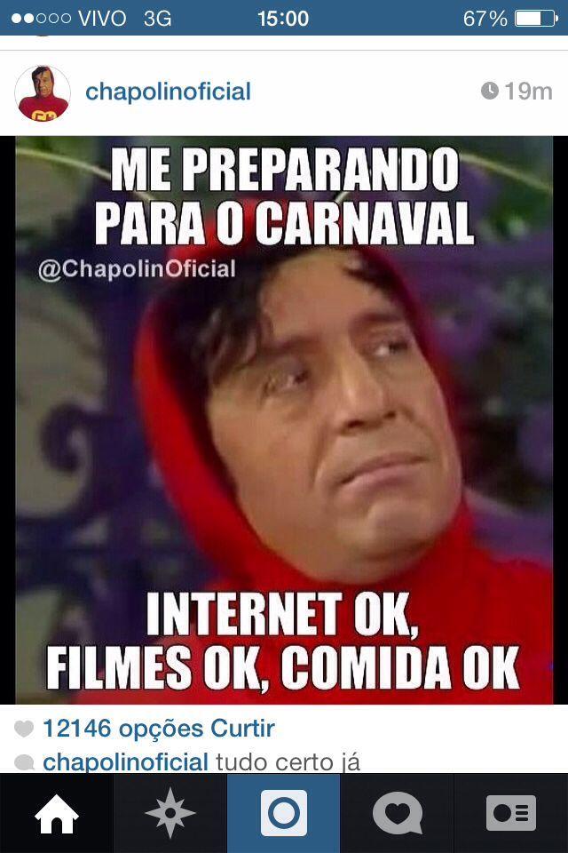 Preparado para o carnaval - meme