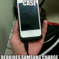 my friends phone charge case fails/wins Samsung 1 Apple 0