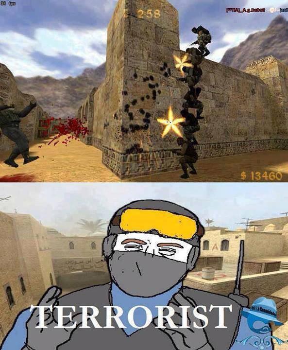 Terroristas - meme