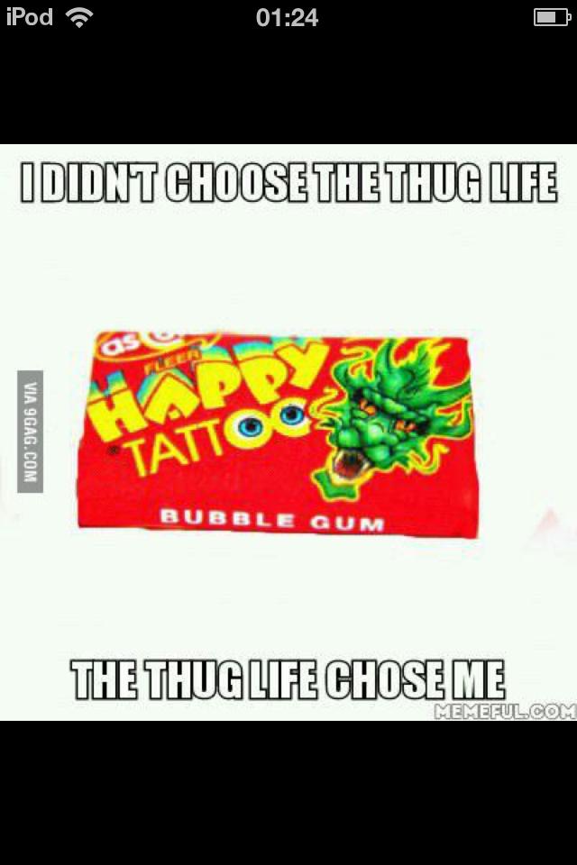 Damn was I thug - meme