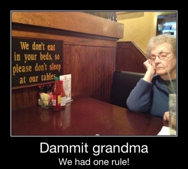 Only one rule grandma - meme