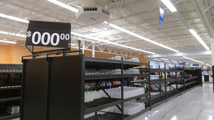 Wal-Mart sure is serious about their prices - meme