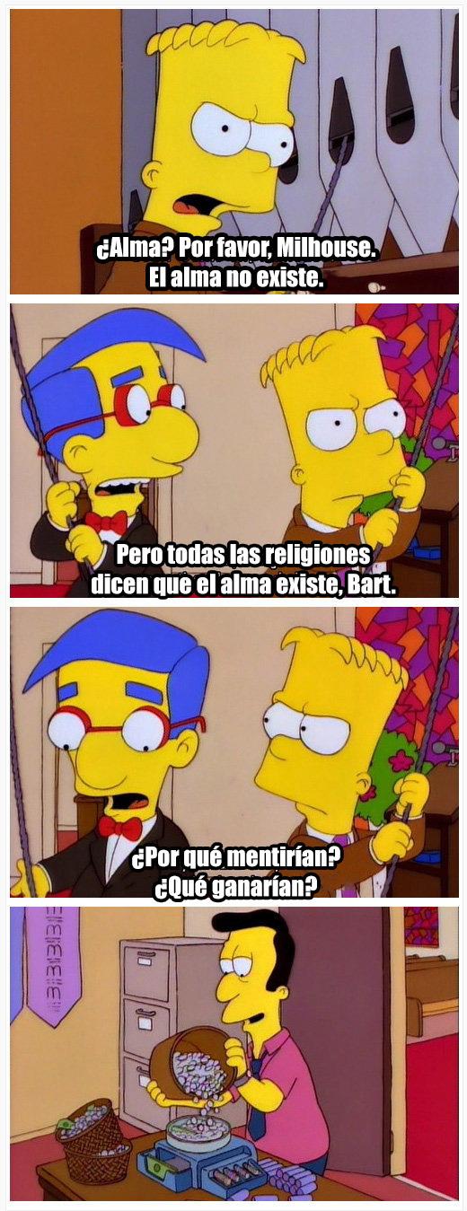 Bart y su inmensa sabiduría - meme