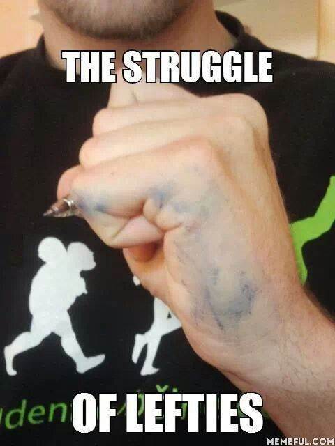 any other lefties here? - meme