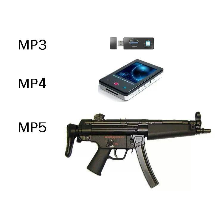 mp3, mp4 e mp5 - meme
