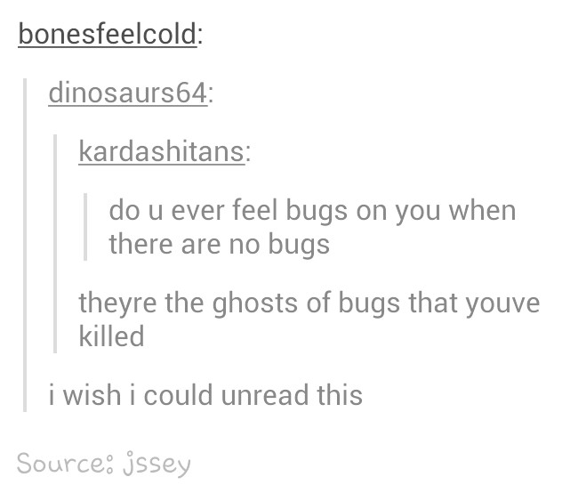 Do bugs have ghosts? - meme