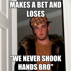 makes bet - meme