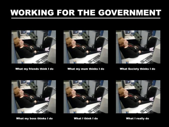Government worker - meme