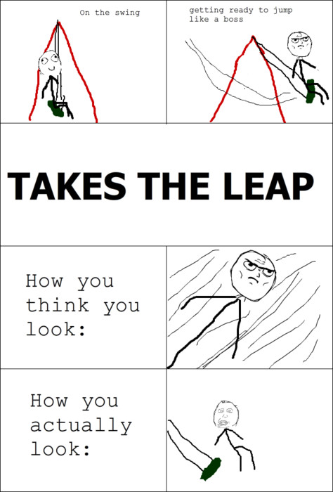 leap of faith - meme