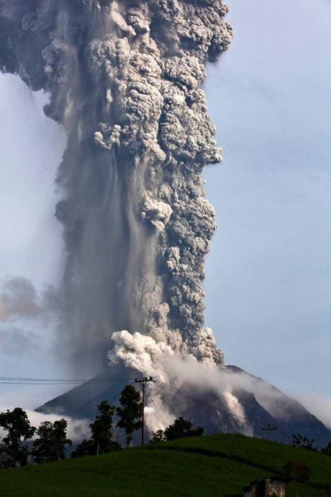 Just an erupting volcano in Indonesia - meme