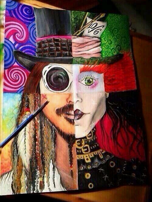 Johnny Depp characters - meme