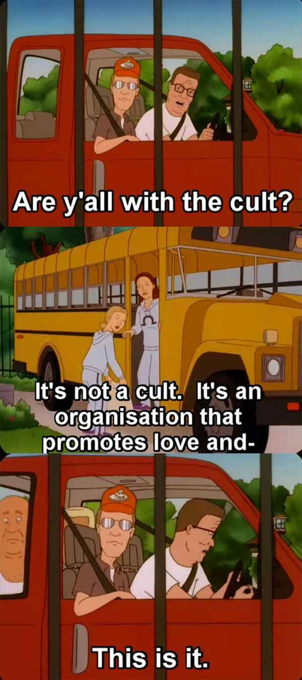 let's create a friendly cult! - meme