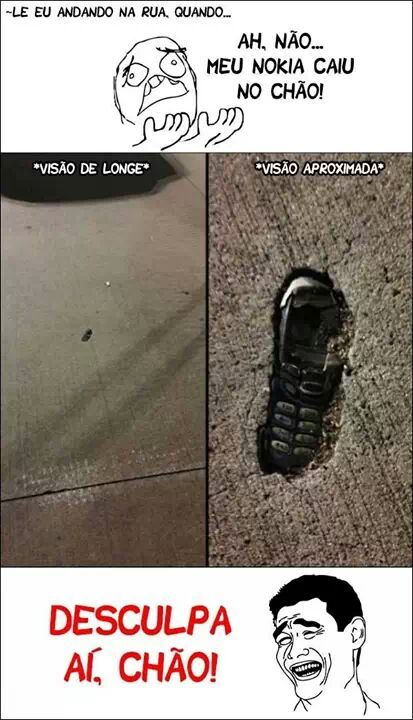 desculpe, chão. - meme