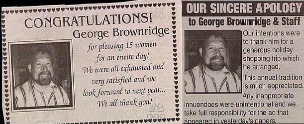Congratulations George Brownridge - meme