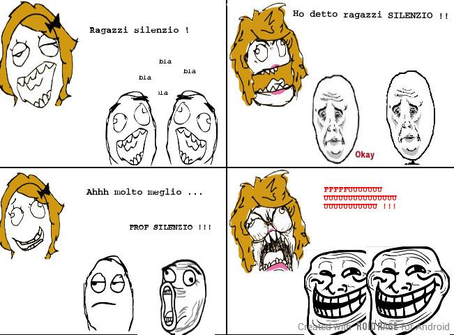 La prof e gli alunni - meme