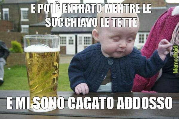 Le bimbo ubriaco - meme