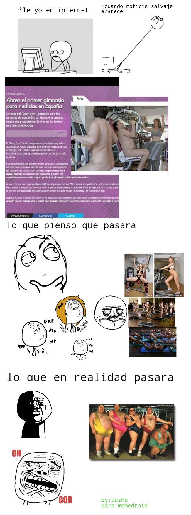 gym para nudistas - meme