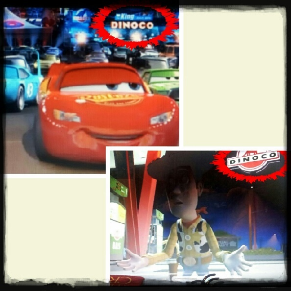 Dinoco is on Toy story and Cars. - meme