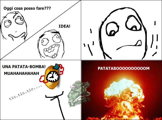 Due parole : Patata e bomba. - meme
