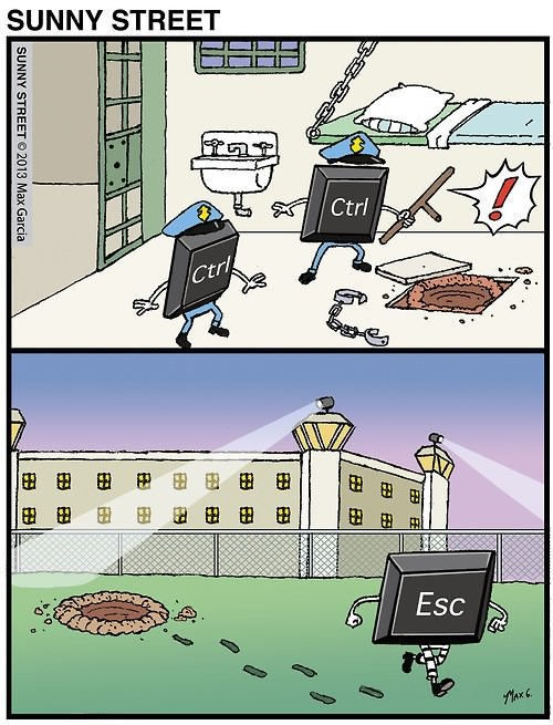 ctrol + esc - meme