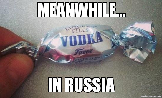 Meanwhile...In Russia they eat this - meme