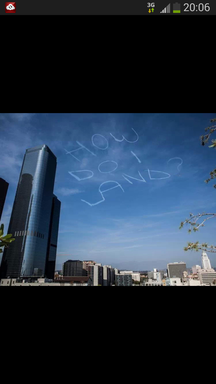 Best sky writing EVER - meme
