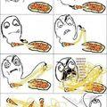mangiando la pizza