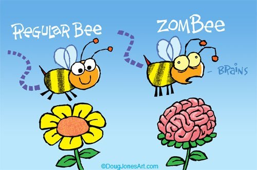 zombees get zomBEES :D - meme