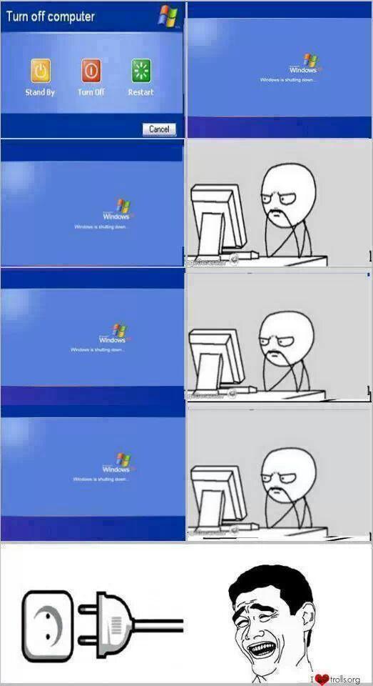 Windows apagate!! - meme