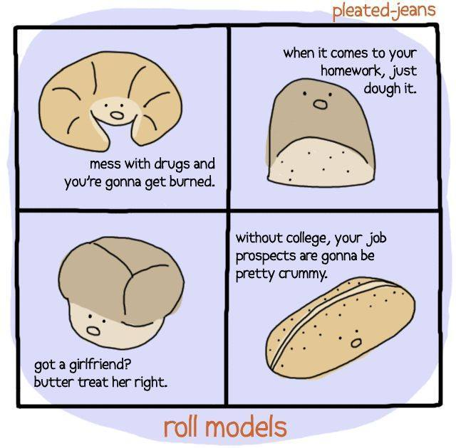 bread jokes. yeah. - meme
