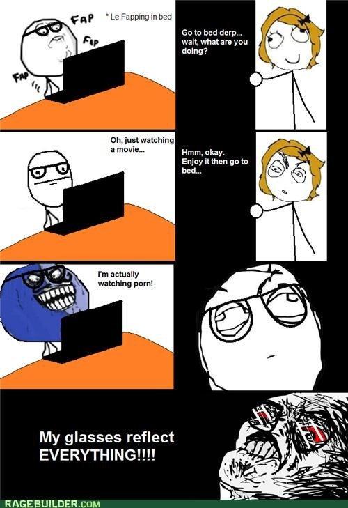 disadvantage of glasses - meme