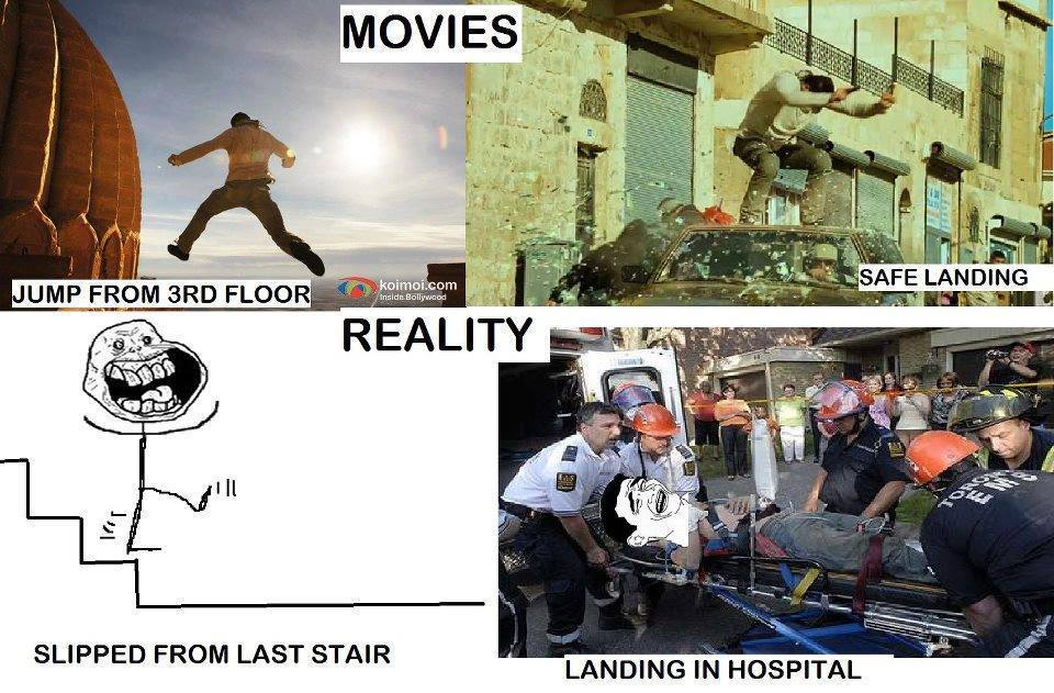 Movies and Reality - meme
