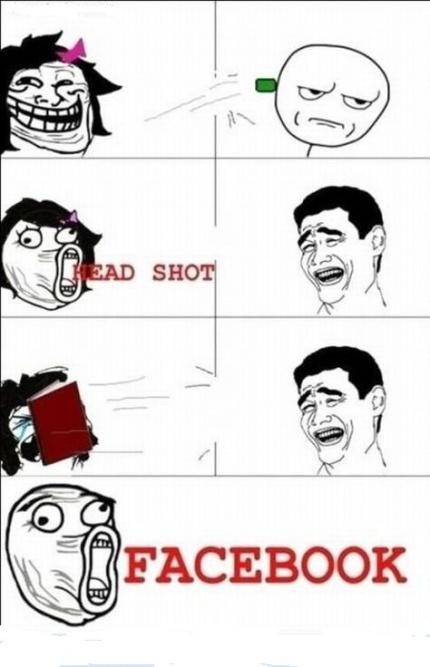 HeadShot facebook - meme