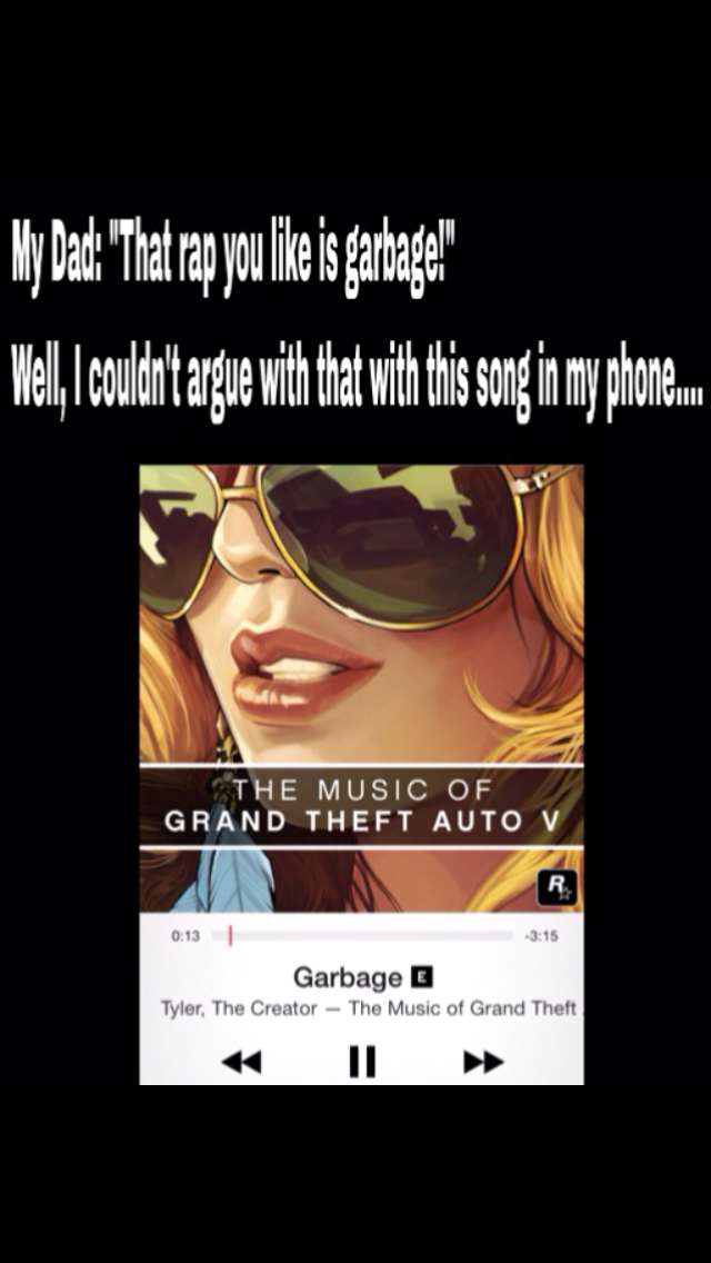 A rap song titled garbage - meme