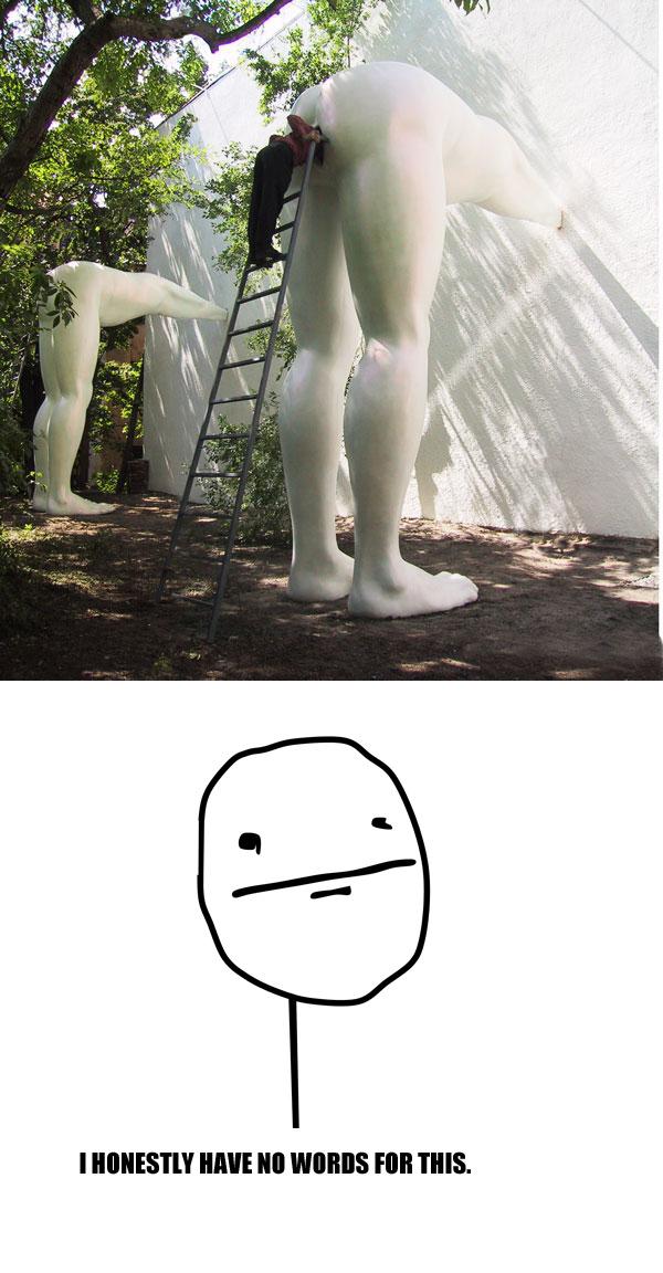 This sculpture is so deep man. - meme