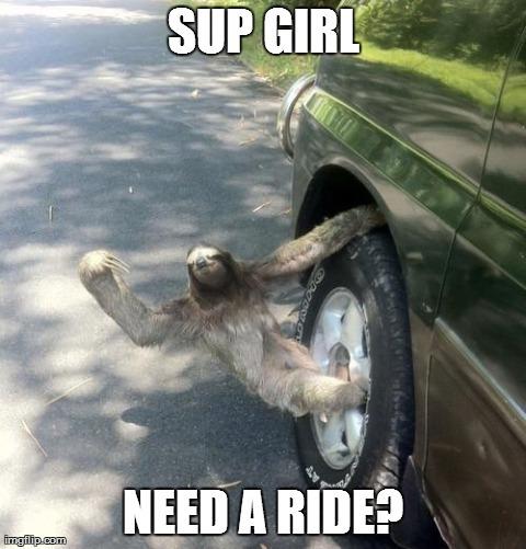 Picking up ladies - meme