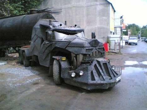 To the batmo-truck...wait what!?  - meme