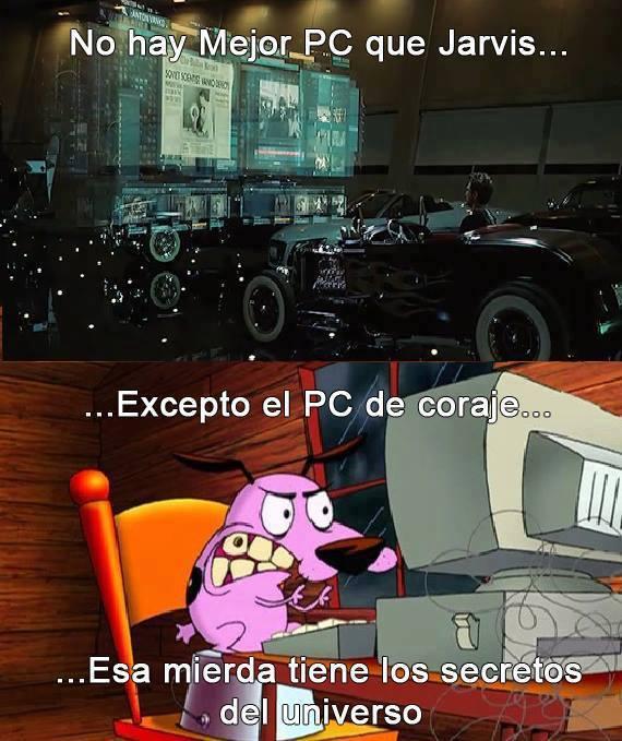 PC de coraje - meme