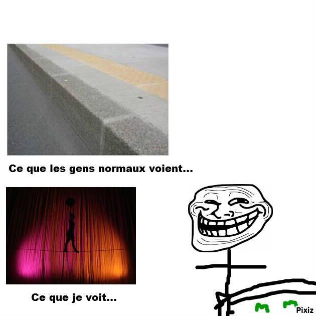 Troll funambule x) - meme