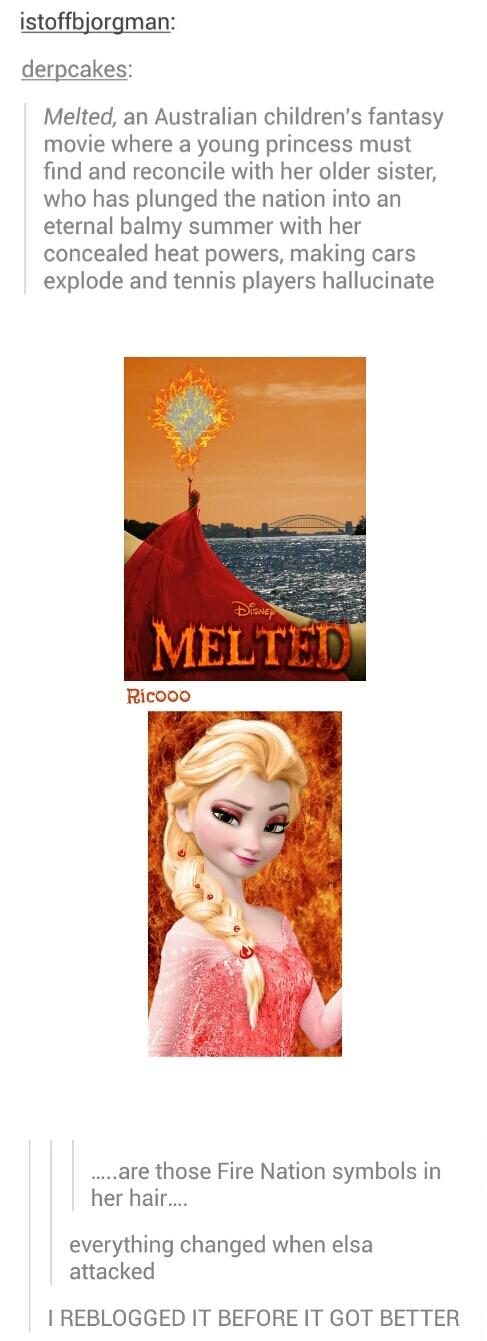 "Australian version of Disney's, ""Frozen"" - meme"