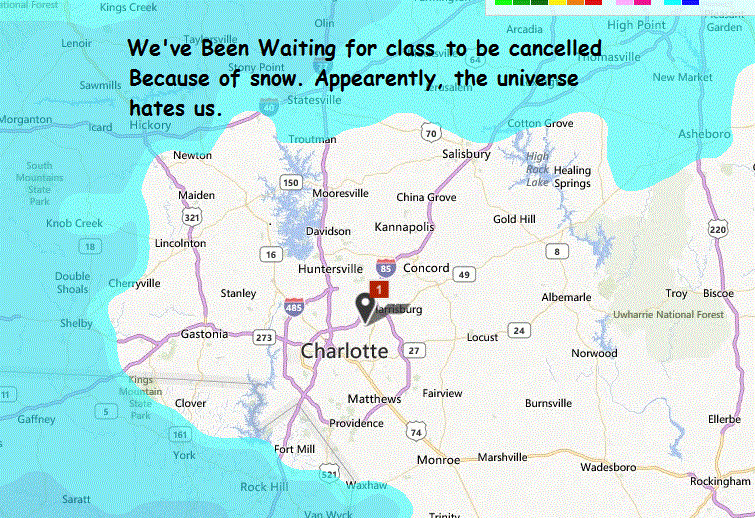 Only in the south we get out of school because of snow - meme
