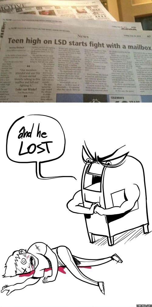 Mail box got jacked  - meme