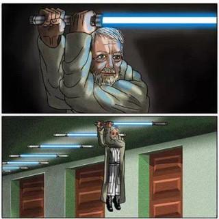 Je ne verrai plus jamais les sabres laser - meme